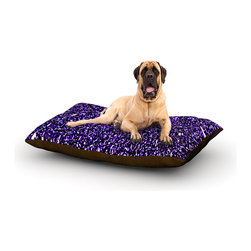"Kess InHouse - Maynard Logan ""Purple Dots"" Fleece Dog Bed (50"" x 60"") - Pets deserve to be as comfortable as their humans! These dog beds not only give your pet the utmost comfort with their fleece cozy top but they match your house and decor! Kess Inhouse gives your pet some style by adding vivaciously artistic work onto their favorite place to lay, their bed! What's the best part? These are totally machine washable, just unzip the cover and throw it in the washing machine!"