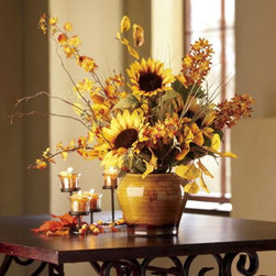 Sunflower Arrangement - This is one of my favorite premade centerpieces because of the colors and quality.