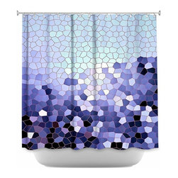 DiaNoche Designs - Shower Curtain Artistic - Patternization IV - DiaNoche Designs works with artists from around the world to bring unique, artistic products to decorate all aspects of your home.  Our designer Shower Curtains will be the talk of every guest to visit your bathroom!  Our Shower Curtains have Sewn reinforced holes for curtain rings, Shower Curtain Rings Not Included.  Dye Sublimation printing adheres the ink to the material for long life and durability. Machine Wash upon arrival for maximum softness. Made in USA.  Shower Curtain Rings Not Included.
