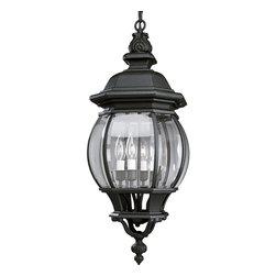 Progress Lighting - Progress Lighting P5501-31 Onion Lantern 4-Light Outdoor Pendants/Chandeliers - Four light cast hanging lantern with clear beveled glass