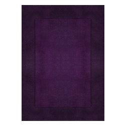 Rug - ~5 ft. x 7 ft. Purple Solid Formal Living Room Area Rug, Hand-Tufted - Living Room Hand-tufted Shaggy Area Rug