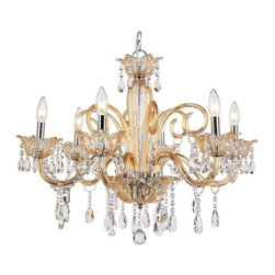 Trans Globe Lighting - Trans Globe Lighting HG-6 CHMP Chandelier In Champagne - Part Number: HG-6 CHMP