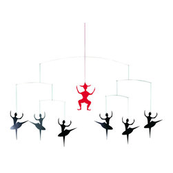 Flensted Mobiles - Hans Christian Andersen's Ballet Mobile - Whether you're raising a ballerina or a soccer player, all babies are drawn to primary colors like red and black. These bright, contemporary dancers are the perfect addition to any nursery.