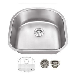 Schon - Schon 18-Gauge 23 1/4 x 20 7/8 x 9 Sink - SCSDB18 18 Gauge Schon Undermount Sink Stainless Steel Single Bowl Sink 23 1/4 x 20 7/8, Grid, Strainer