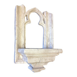 Casa de Arti - Cathedral of Notre Dame Gothic Window Shelf - Beautiful plaque to add to your garden or home decor at an incredible price.