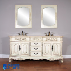 "Virginia Showroom - HWM-003-AW-72 72"" Double Bathroom Vanity 