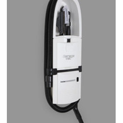 InterVac Design Corp. - GarageVac GH120-W White Surface Mounted Vacuum Cleaner - Accessory kit included: 40' stretch hose, bare floor tool, upholstery brush, crevice tool, dashboard brush, telescoping wand, hose hanger. long crevice tool