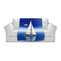 DiaNoche Designs - Fleece Throw Blanket by Mark Watts - Sail - Original Artwork printed to an ultra soft fleece Blanket for a unique look and feel of your living room couch or bedroom space.  DiaNoche Designs uses images from artists all over the world to create Illuminated art, Canvas Art, Sheets, Pillows, Duvets, Blankets and many other items that you can print to.  Every purchase supports an artist!
