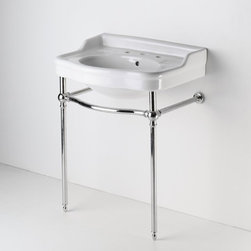 Two Leg Single Washstand - I would really love to have a bathroom with a wash stand like this-it will create an immediate feeling of history.