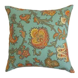 The Pillow Collection - Orla Orange 18 x 18 Floral Throw Pillow - - Pillows have hidden zippers for easy removal and cleaning  - Reversible pillow with same fabric on both sides  - Comes standard with a 5/95 feather blend pillow insert  - All four sides have a clean knife-edge finish  - Pillow insert is 19 x 19 to ensure a tight and generous fit  - Cover and insert made in the USA  - Spot clean and Dry cleaning recommended  - Fill Material: 5/95 down feather blend The Pillow Collection - P18-WAV-676770-HARVEST-C100