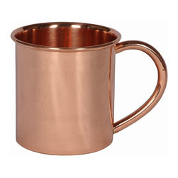 Custom Copper Mugs, LLC - 14 oz Copper Mug - Our Moscow Mule Mugs are constructed of 100% pure copper. We apply a food-safe lacquer that resists tarnishing for lasting beauty and luster. The mug of choice when serving the infamous Moscow Mule--a cocktail made from a blend of vodka, ginger beer, and lime juice. The copper mug enhances the flavor and keeps the drink colder, longer.