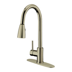 LessCare - Brushed Nickel Finish Pull-Down Kitchen Faucet LK4B, 1 hole / 3 holes - *Country/Region of Manufacture: China