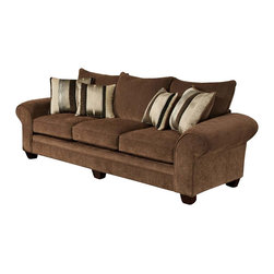 Chelsea Home Furniture - Chelsea Home Clearlake Sofa in Masterpiece Chocolate - Kendu Onyx Pillows - Clearlake Sofa in Masterpiece Chocolate - Kendu Onyx Pillows belongs to the Chelsea Home Furniture collection