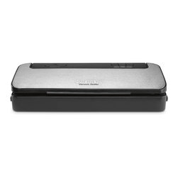 Cuisinart - Cuisinart VS-100 Black Vacuum Food Sealer - Keep favorite foods fresh and leftovers longer with our Cuisinart Vacuum Sealer. Extracting air to seal in flavor and preserve texture has never been easier, and you get more of all those healthy benefits that fresh food has to offer.