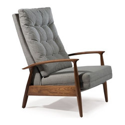 Thayer Coggin - Thayer Coggin | Viceroy High Back Recliner Chair - Design by Milo Baughman.