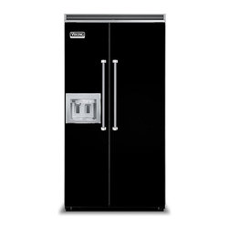 "Viking 42"" Built-in Side By Side Refrigerator, With Dispenser Black 