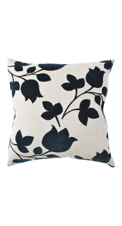 Khaki Tulip Pillow - Bold silhouettes make this pillow a standout. I love the design and the basic color palette.