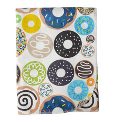 Cotton Baby, Blue Donuts - - a breathable, lightweight and warm blanket for your little one