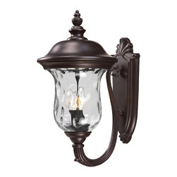 Z-Lite - Z-Lite 533M-RBRZ Z-Lite 533M-BK Black Armstrong 2 Light Outdoor Wall Sconce with - Z-Lite 533 Armstrong Outdoor Sconce Armstrong Outdoor SconceTraditional charm emanates from this outdoor wall mount fixture, which includes clear water