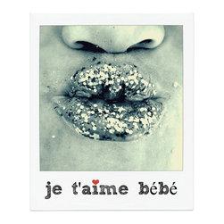"Print - je'taime bebe - 22 x 26 print - ""I Love You Baby"""