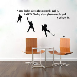 ColorfulHall Co., LTD - Ice Hockey With Inspirational Words For Wall Decals - Ice Hockey With Inspirational Words For Wall Decals