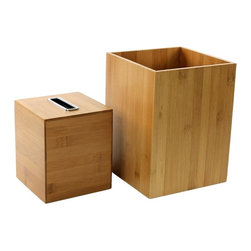 Gedy - Wooden 2 Piece Bamboo Bathroom Accessory Set, - Trendy bamboo bathroom accessory set made from wood. Includes waste bin and tissue paper holder. Manufactured in Italy. Part of the Gedy Cubico Bamboo collection. Available in bamboo wood finish. Made from wood. From the Gedy Cubico Bamboo collection. Designed and built in Italy. Included in set:. Waste bin Gedy PO09-35. Tissue box cover Gedy PO02-35.