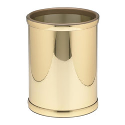 Kraftware - Mylar 10 in. Round Wastebasket in Polished Brass - Made in USA. 10 in. Dia. x 12 in. H (1.5 lbs.)Kraftware's Mylars bring the look of metal at vinyl prices. Great value, great looks and great entertaining sum up the Mylar collection.