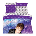Lady Sandra Home Fashions Inc - Justin Bieber Concert Purple Full Bed Comforter Shams Set - Features: