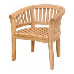 "Anderson Teak - Curve Armchair Extra Thick Wood - This solid Teak ""Curve Armchair"" makes the perfect addition to your Patio or Backyard. Place it with curve bench and the ""kidney table"" will amaze your family and friends. Cushion is optional and is can be made by order."