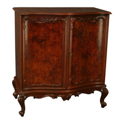 EuroLux Home - New Rococo Media TV Cabinet Burled - Product Details