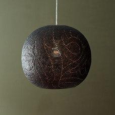 Perforated Globe Pendant - Swirl | west elm