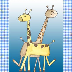 Oh How Cute Kids by Serena Bowman - Two by Two Blue - Giraffe, Ready To Hang Canvas Kid's Wall Decor, 16 X 20 - Each kid is unique in his/her own way, so why shouldn't their wall decor be as well! With our extensive selection of canvas wall art for kids, from princesses to spaceships, from cowboys to traveling girls, we'll help you find that perfect piece for your special one.  Or you can fill the entire room with our imaginative art; every canvas is part of a coordinated series, an easy way to provide a complete and unified look for any room.