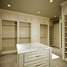 Traditional Closet Organizers by MICHAEL MOLTHAN LUXURY HOMES