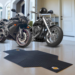 Fanmats - NBA Motorcycle Mat - Show off your team pride with these NBA motorcycle mats. You can protect your garage floor from dirt,debris,and oil.