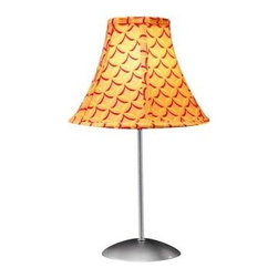 Lumisource - Novelty Lamps: 15.5 in. Orange Table Lamp LS-RETRO MANGO - Shop for Lighting & Fans at The Home Depot. Enjoy a blast from the past with this colorful Retro accent lamp. A groovy patterned fabric shade sits atop a powder-coated silver pole and base. Any lamp can brighten up a room, but the Retro lamp will put a smile on your face in the process.