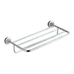 Gedy - Polished Chrome Towel Shelf With Towel Bar - Modern style wall mounted bath towel shelf with bar.