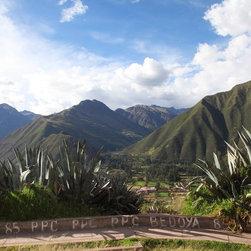 """""""Urabamba 10"""" Artwork - Landscape of Mountains in Urabamba Peru"""