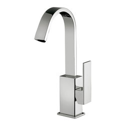 WS Bath Collections - Elle EL 878 Bathroom Faucet with Swivel Spout - Elle by WS Bath Collections, Single Lever Bathroom Faucet with Swivel Spout, in Polished Chrome