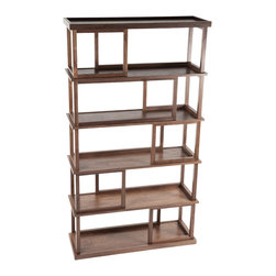 Control Brand - Erland Book Shelf - The Erland Book Shelf is made of solid American Walnut with Walnut veneered partitions. Strong and durable as well as functional. It features fifteen open storage spaces, provided storage where it's needed most.