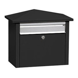 Salsbury MailHouse Mailbox in Black - This is a post mount, modern mailbox made by Salsbury.  It comes in several colors, this is the black version.  It retails for $112.23 with free shipping at http://www.mailboxixchange.com