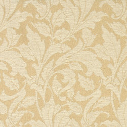 Beige And Ivory Leaves Outdoor Indoor Marine Upholstery Fabric By The Yard - This material is an upholstery grade outdoor and indoor fabric. It is stain, water, mildew, bacteria and fading resistant. It is also Scotchgarded for further stain resistance and durability. This material is woven for superior appearance.