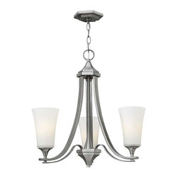 Hinkley Lighting - Hinkley Lighting 4633BN Brantley Brushed Nickel 3 Light Chandelier - Hinkley Lighting 4633BN Brantley Brushed Nickel 3 Light Chandelier