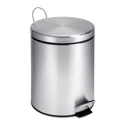 Honey Can Do - 5L Round Stainless Steel Step Can - 5L capacity. Includes removable inner bucket. Carrying handle. Easily wiped clean