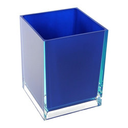 Gedy - Free Standing Waste Basket With No Cover, Blue - If your bathroom is in need of a waste basket, why not consider this high-end bathroom waste basket from the Gedy Rainbow collection? Perfect for more contemporary & modern settings, this high quality waste bin is free standing and finished with white, green, blue, red, black, orange, silver, fuschia, or lilac.