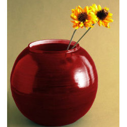Bamboo Round Red Vase - This pretty vase reminds me of a heart. I would fill it with white daisies and find a sunny spot in my bedroom to showcase it.