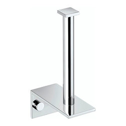 WS Bath Collections - WS Bath Collections Metric Toilet Paper Holder in Brushed Stainless Steel - High Quality Designer Bathroom Accessories
