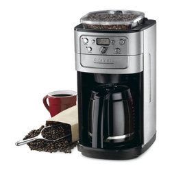 Cuisinart - Cuisinart Grind-and-Brew 12-cup Automatic Coffeemaker (Refurbished) - Brew your favorite coffee blend for your next brunch or dinner party with this Cuisinart Grind-and-Brew 12-cup automatic coffeemaker. A burr grinder is built in for convenience and the thermal carafe keeps coffee warm all morning or evening.