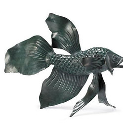 Fighting Fish Outdoor Sculpture