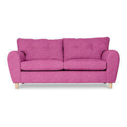 Retro Two Seater, Fuchsia Chenille