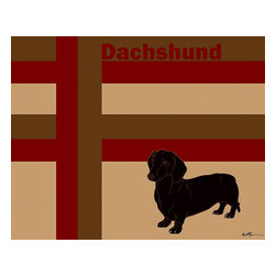 Oh How Cute Kids by Serena Bowman - Mod Dachshund, Ready To Hang Canvas Kid's Wall Decor, 11 X 14 - Each kid is unique in his/her own way, so why shouldn't their wall decor be as well! With our extensive selection of canvas wall art for kids, from princesses to spaceships, from cowboys to traveling girls, we'll help you find that perfect piece for your special one.  Or you can fill the entire room with our imaginative art; every canvas is part of a coordinated series, an easy way to provide a complete and unified look for any room.